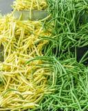 Зеленые и желтые щелчковые фасоли Стоковые Фото