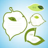 Зеленые канцелярские принадлежности лист Стоковые Изображения