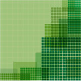 Зеленые квадраты различного размера Стоковое фото RF