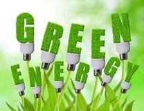 Зеленые концепции энергии стоковое фото