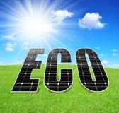 Зеленые концепции энергии иллюстрация штока