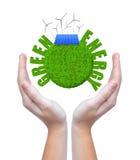 Зеленые концепции энергии бесплатная иллюстрация