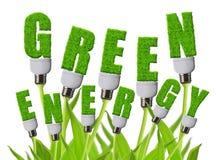Зеленые концепции энергии стоковое фото rf