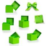 Зеленые коробки Стоковые Фотографии RF