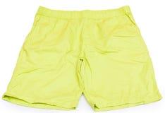 Зеленые короткие изолированные брюки Стоковые Изображения RF