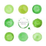 Зеленые круглые пятна и помарки Стоковое Фото