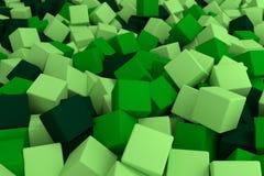 Зеленые кубики Стоковое Изображение RF