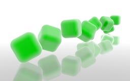 Зеленые кубы 2 Стоковое Изображение