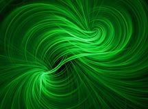 Зеленые обои предпосылки свирли Стоковая Фотография