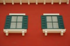 Зеленые окна Стоковые Фото