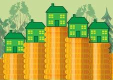 Зеленые домашние сбережения Иллюстрация вектора