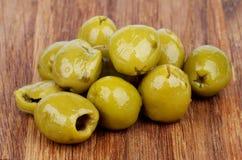 Зеленые оливки Стоковые Фото