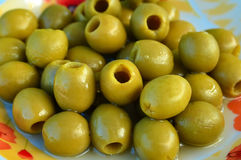 зеленые оливки Стоковые Изображения RF