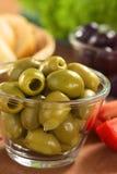 зеленые оливки Стоковая Фотография