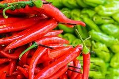 зеленые перцы красные Стоковое Изображение RF