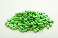 Зеленые пилюльки витамина Стоковые Изображения