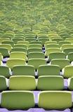 Зеленые посадочные места стадиона Стоковое фото RF