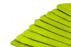 зеленые полотенца Стоковые Изображения RF
