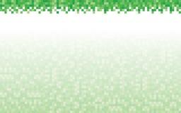 Зеленые предпосылка и заголовок пиксела Стоковое фото RF