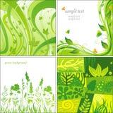 Зеленые предпосылки Стоковые Изображения RF
