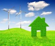 Зеленые принципиальные схемы энергии Стоковая Фотография RF