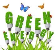 Зеленые принципиальные схемы энергии стоковые изображения rf