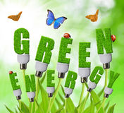 Зеленые принципиальные схемы энергии стоковое изображение rf