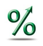 Зеленые проценты символа бесплатная иллюстрация