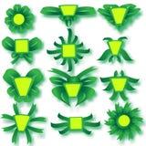 Зеленые пустые установленные знамена Стоковые Изображения