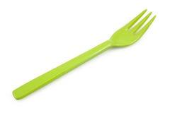 Зеленые пластичные вилки изолированные на белой предпосылке Стоковое Изображение RF