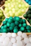 Зеленые пластичные шарики Стоковое Изображение RF
