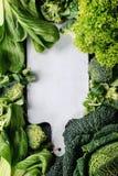Зеленые салаты и капуста Стоковые Фотографии RF