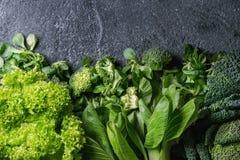 Зеленые салаты и капуста Стоковые Изображения