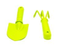 Зеленые садовничая инструменты Стоковое Изображение RF