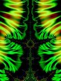 Зеленые свирли фракталей Стоковое Фото