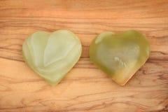 зеленые сердца Стоковое Изображение