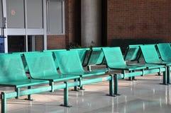Зеленые стулья металла Стоковое фото RF