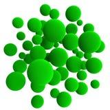 зеленые сферы Стоковые Фотографии RF