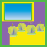 Зеленые сливы Стоковые Изображения RF