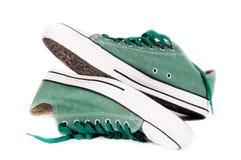 Зеленые тапки Стоковая Фотография