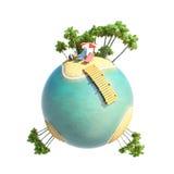 Зеленые тропики 3D планеты Стоковое Изображение