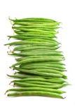 Зеленые фасоли, вертикальный формат, изолированный на белизне Стоковая Фотография