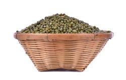 зеленые фасоли на деревянной предпосылке Стоковое Фото