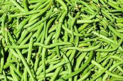 Зеленые фасоли на рынке Стоковое фото RF