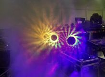 Зеленые & фиолетовые света Стоковая Фотография RF