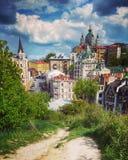 Зеленые холмы Киева Стоковая Фотография RF