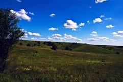 зеленые холмы Стоковые Фотографии RF