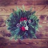Зеленые цвета рождества Стоковое Изображение