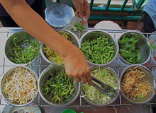 Зеленые цвета Cutted в рынке Стоковая Фотография RF