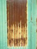 зеленые цинк и ржавый Стоковая Фотография RF